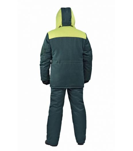 """Костюм мужской """"Буран"""" зимний зелёный с жёлтым"""